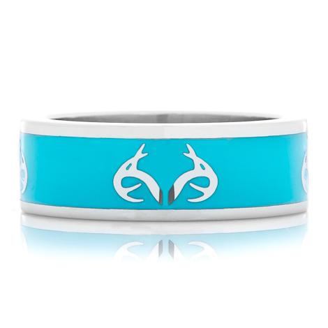 Realtree Logo Ring-Turquoise