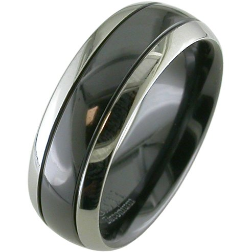 Two-Tone Zirconium Ring