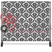 8x8 Printed Tension fabric backdrop (Black/white Damask)