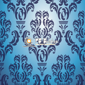 8x8 Printed Tension fabric backdrop (Blue Damask)