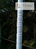 Pipe and Drape Pole Covers (White) with two base covers