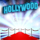 8x8 Printed Tension fabric backdrop (Hollywood Theme)