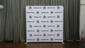 8X8 Single Sided Custom Pillow Style Backdrop stand with tension banner