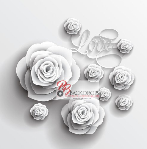 Beautiful White Roses with a little LOVE