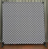 8x8 Printed Tension fabric backdrop (80's Style Checkerboard)