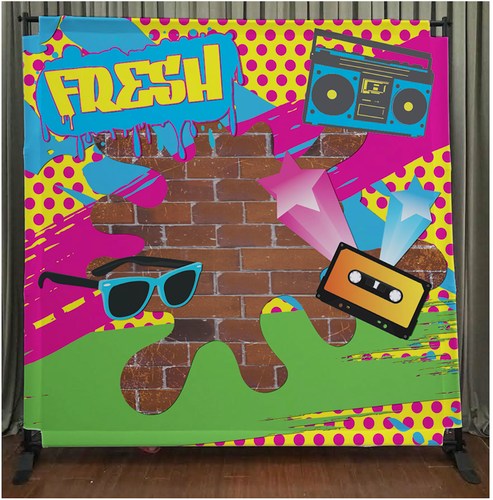 8x8 Printed Tension Fabric Backdrop 80 S Style Fresh