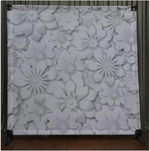 8x8 Printed Tension fabric backdrop (White Flowers)