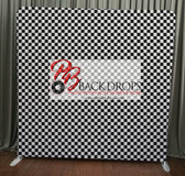 8X8 Single Sided  backdrop (80's Checkerboard)