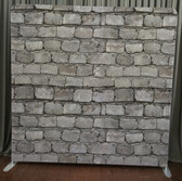 8X8 Single Sided Custom backdrop (White wash brick wall)