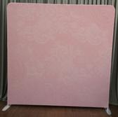 8X8 Single Sided Custom backdrop (Lace Pink Flowers)