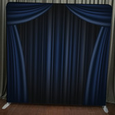 8X8 Single Sided Custom backdrop (Blue Curtain)