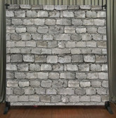 8x8 Printed Tension fabric backdrop (White Brick Wall)