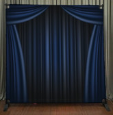 8x8 Printed Tension fabric backdrop (Blue Curtain)
