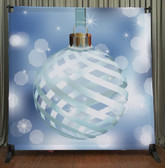 8x8 Printed Tension fabric backdrop (Christmas Oranament)