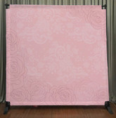 8x8 Printed Tension fabric backdrop (Pink Lace Flowers)