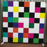 8X8 Single Sided Custom backdrop (Colorful Checkers)