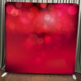 8X8 Single Sided Custom backdrop (Red Bokeh)