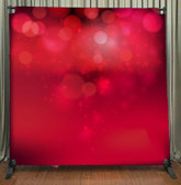 8x8 Printed Tension fabric backdrop (Red Bokeh)
