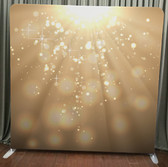 8X8 Single Sided Custom backdrop (Gold Light Bokeh))
