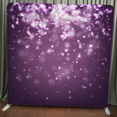 8X8 Single Sided Custom backdrop (Purple Bokeh))
