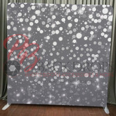 8X8 Single Sided Custom backdrop (Silver Bokeh)