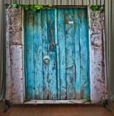 8x8 Printed Tension fabric backdrop (Rustic Blue Doors)