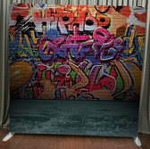8X8 Single Sided Custom backdrop (Graffiti Wall)