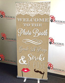 Step Right Up PHOTO BOOTH RETRACTABLE BANNER (Elegant)