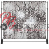 8x8 Printed Tension fabric backdrop (Silver Sequins)