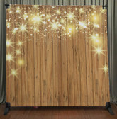 Printed Tension fabric backdrop (Stars on Wood)