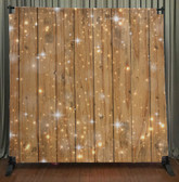 Printed Tension fabric backdrop (Sparkles on Wood)