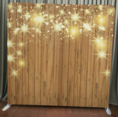 8X8 Single Sided Custom backdrop (Stars on Wood)