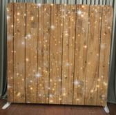 8X8 Single Sided Custom backdrop (Sparkles on Wood)