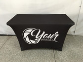 4ft Spandex Fabric Table Cover with Zipper in back (Custom Design)