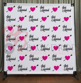 8x8 Printed Tension fabric backdrop (Just Married)
