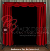 8x8 Printed Tension fabric backdrop (Red Curtains)