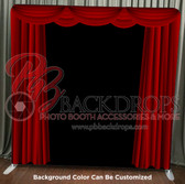 8X8 Single Sided Pillow Cover Backdrop (Red Curtains)