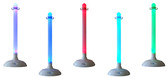LED Stanchion  Package Deal with 32ft of Plastic Chain