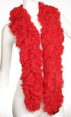 SUPER Sized Featherless Boa - (RED)