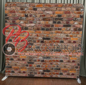8X8 Single Sided Pillow Cover Backdrop (Red Brick)