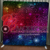 Single Sided Pillow Cover Backdrop (Disco)
