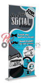 Selfie Social Station Retractable Banner (Blue)