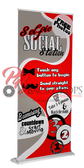Selfie Social Station Retractable Banner (Red)