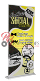 Selfie Social Station Retractable Banner (Yellow)