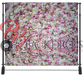 8x8 Printed Tension fabric backdrop (Spring Flowers)