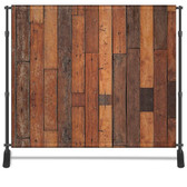 8x8 Printed Tension fabric backdrop (Rustic Wood)