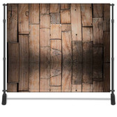 8x8 Printed Tension fabric backdrop (Staggered Wood)