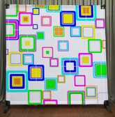 8x8 Printed Tension fabric backdrop (Colorful Squares)