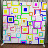 Single Sided Pillow Cover Backdrop  (Colorful Squares)