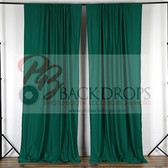 10 ft x 10 ft Polyester Professional Backdrop Curtains Drapes Panels - Hunter Green